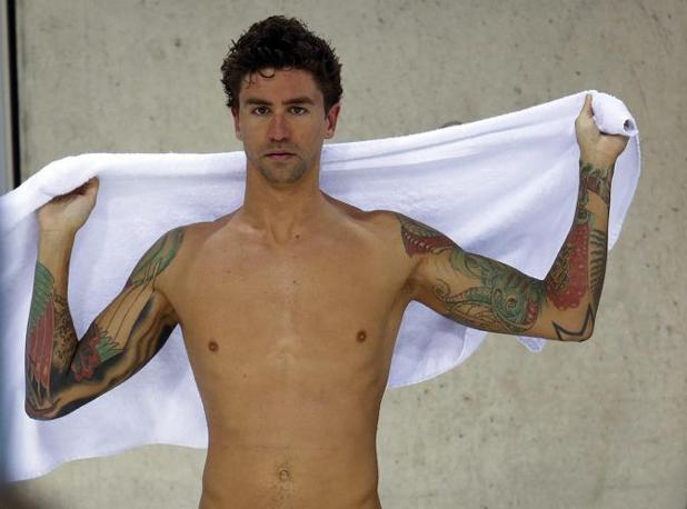 Il nuotatore  statunitense Anthony Ervin (Epa/Kraemer)  