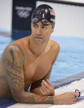 Il nuotatore  statunitense Anthony Ervin (Ap/Terril)