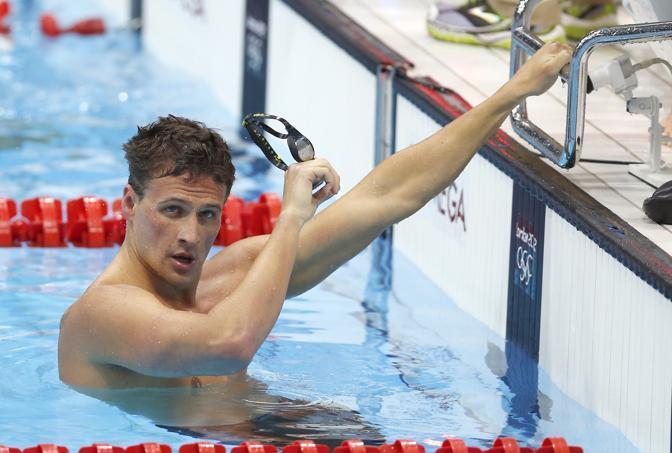 Il nuotatore statunitense Ryan Lochte (Ap/De Olza)