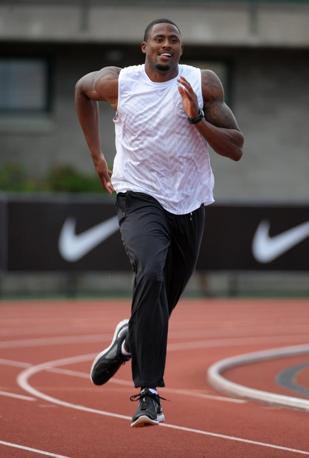 L'atleta statunitense  David Oliver, specializzato nella corsa a ostacoli