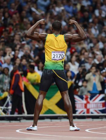 Bolt ha trionfato anche nella staffetta, trascinando la squadra giamaicana dei 4\100 a stabilire uno straordinario record mondiale: 36.84 (Afp)