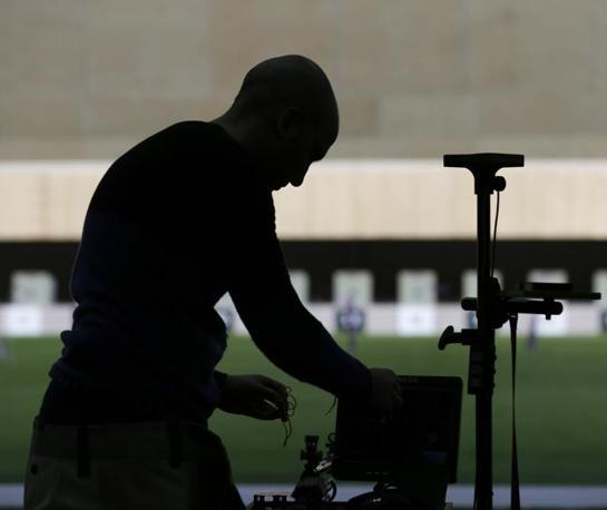 Il tiratore fiorentino si prepara a sparare (Ap/Blackwell)