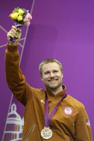 L'americano Emmons sorride per il bronzo vinto(Epa/Parnaby)