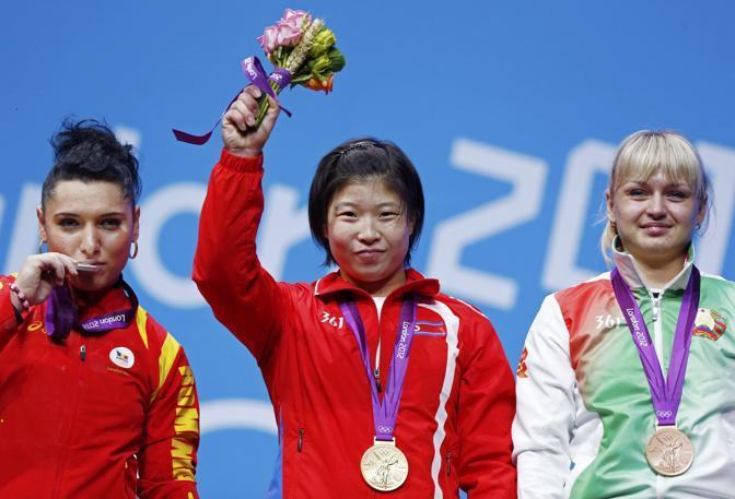 Jong Sim Rim con la medaglia d'oro (Reuters)