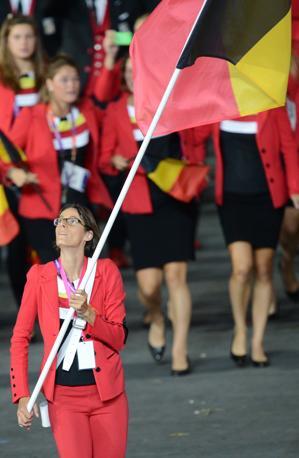 Per il Belgio c'è Tia Hellebaut  (Afp/Simon)