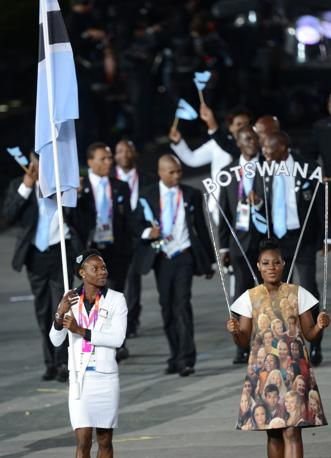 Il Botswana con Amantle Montsho (Afp/Simon)