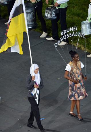 Il Brunei e Maziah Mahusin (Afp/Khan)