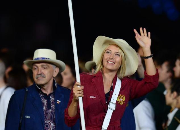Il sorriso di Maria Sharapova (Afp/Morin)
