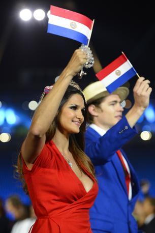 Leryn Franco nella delegazione del Paraguay (Afp)