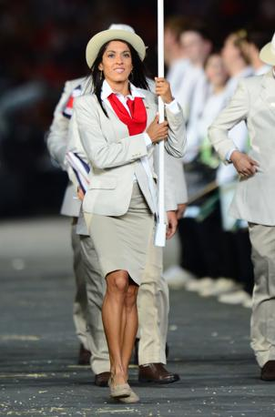 Gabriela Trana guida la delegazione del Costa Rica (Afp)