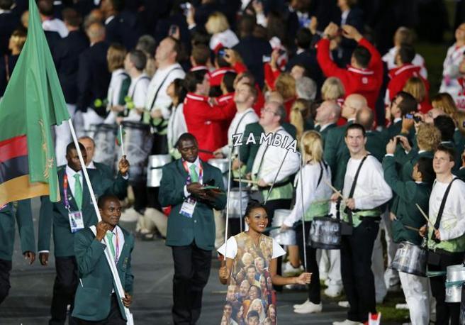 La divisa dello Zambia e i suoi tradizionali colori sociali (Reuters)