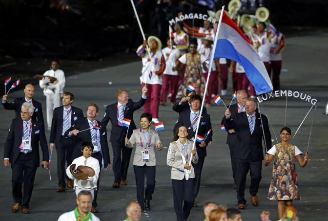 Quella del Lussemburgo, precede (sullo sfondo) quella del Madagascar (Reuters)