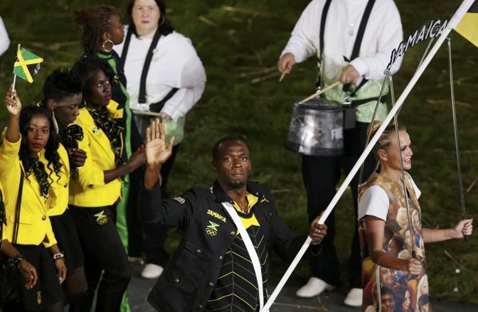 L'uomo-jet Usain Bolt portabandiera della Giamaica (Reuters)