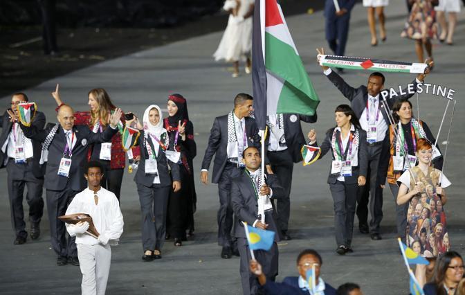 I membri della nazionale palestinese, ancora senza uno Stato, ma con una forte identità (Reuters)