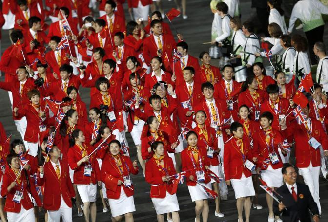 Quella cinese, destinata a stravincere nel medagliere olimpico (Reuters)