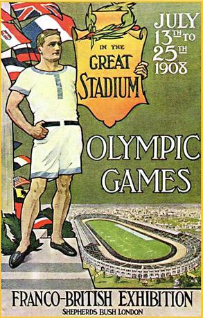 Il manifesto dell'Olimpiade 1908