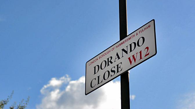 La via dedicata a Dorando Pietri, dove sorgeva lo stadio Olimpico del 1908