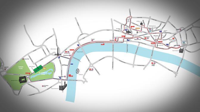 Il percorso della maratona edizione 2012: un circuito nel cuore della citt�