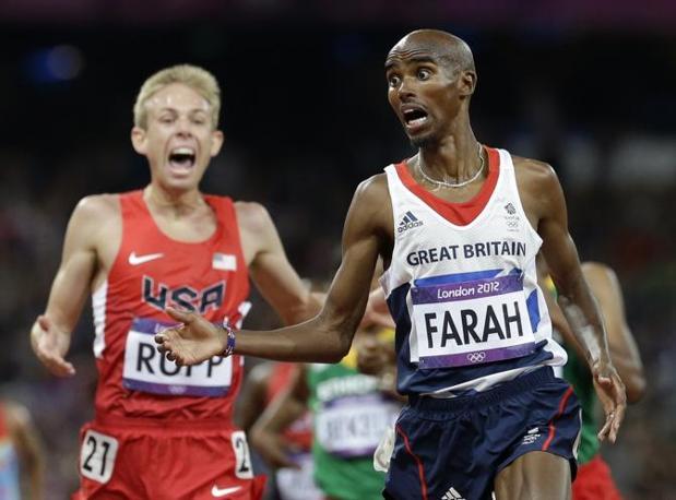 Mo Farah atleta inglese, di origini somale, è arrivato primo nei 10mila metri (Ap)