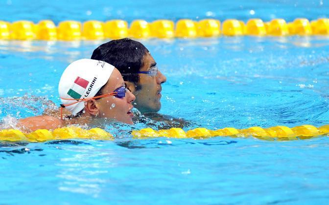 Federica Pellegrini e Filippo Magnini, la coppia d'oro del nuoto italiano insieme al primo allenamento a Londra(Ansa)