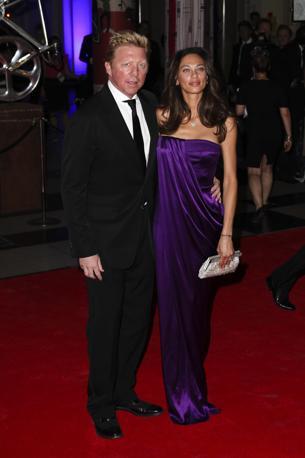 Boris e Lilly Becker hanno partecipato al Peace Gala, il ballo di beneficenza al Victoria Albert Museum, organizzato alla vigilia delle Olimpiadi.  (Lfi)