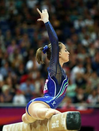 Carlotta Ferlito, oltre ad essere campionessa azzurra, � una delle ginnaste protagoniste del reality targato Mtv che ha avuto un enorme successo (Epa/Vennenbernd)