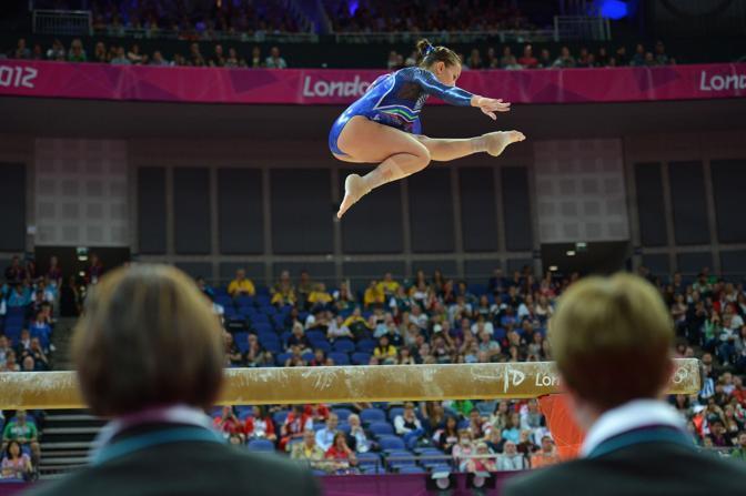 Erika Fasana, anche lei nella squadra di ginnaste azzurre (Afp/Stansall)