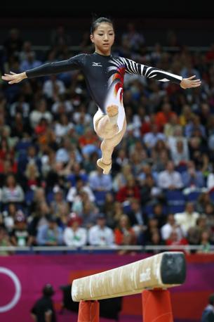 Asuka Teramoto, Giappone, alla trave (Afp) 