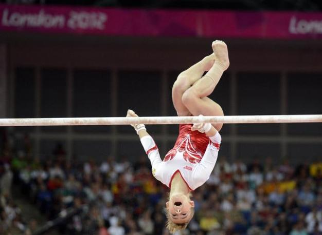 La russa Anatasia Grishina  alle parallele ( Robert Deutsch-USA TODAY Sports)