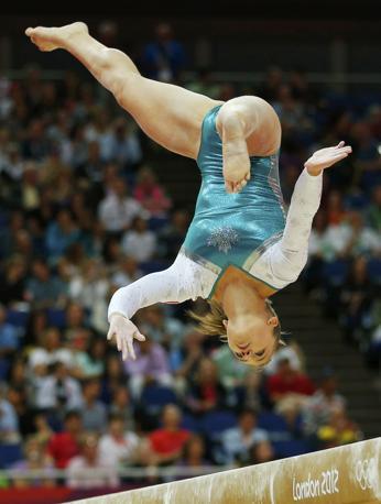 L'atleta canadese Dominique Pegg (Reuters)