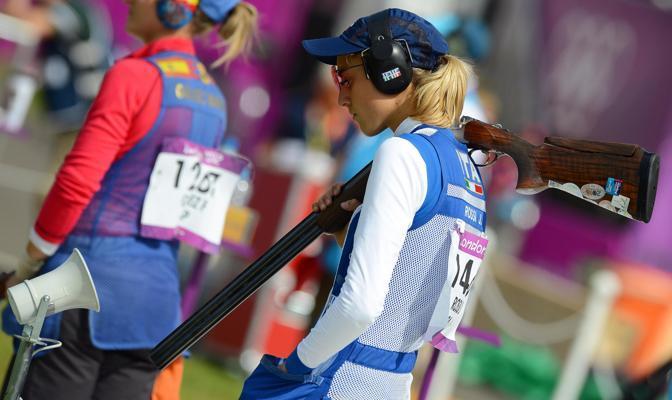 Jessica concentrata durante la gara (Ansa)
