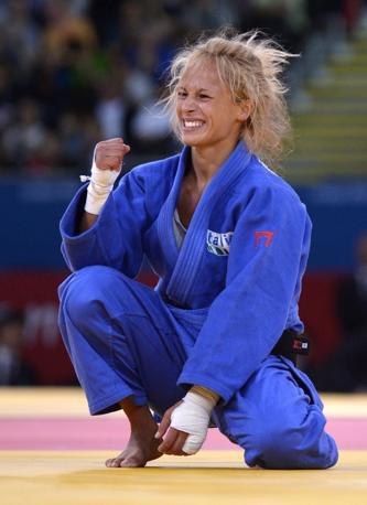 La gioia per la conquista della medaglia (Ansa)