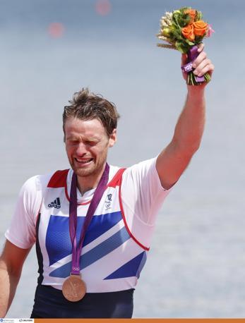 Il britannico Alan Campbell,  bronzo nel canottaggio singolo (Action)