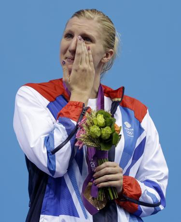 La britannica Rebecca Adlington, bronzo nel nuoto, 800 metri stile libero (Ap)