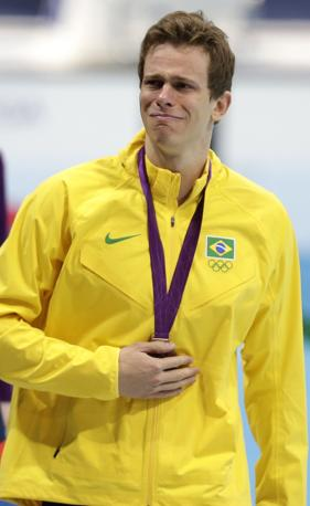 Il nuotatore brasiliano Cesar Cielo, bronzo nei 50 metri stile libero (Reuters)