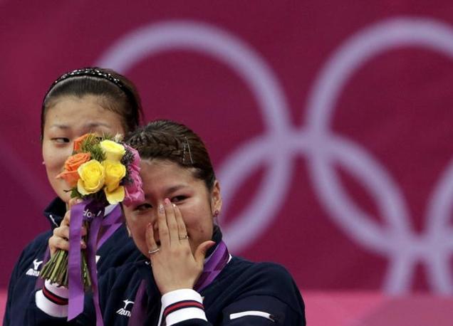 La giapponese Mizuki Fujii, argento nel doppio badminton (Reuters)