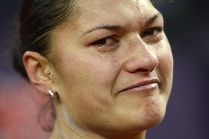 La neozelandese Valerie Adams, argento nel lancio del peso (Afp)
