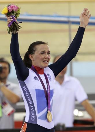La ciclista britannica Victoria Pendleton, oro nel keirin (Reuters)