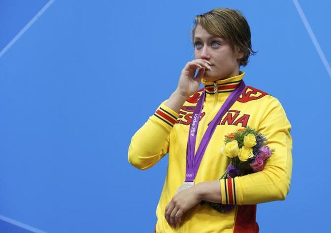 La nuotatrice spagnola Mireia Belmonte Garcia, argento nei 200 metri farfalla (Reuters)