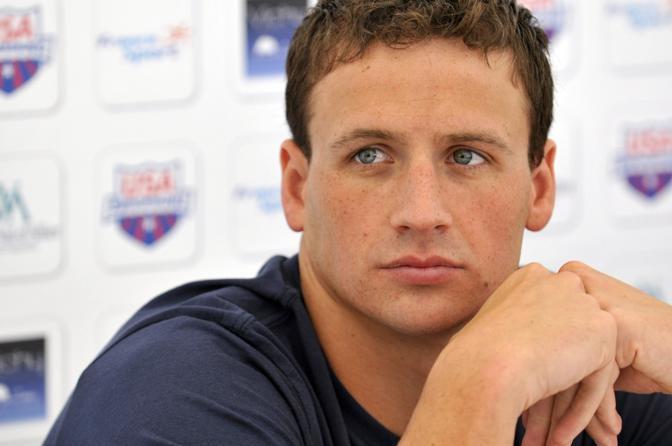 Ryan Lochte, campione del nuoto americano e uno degli atleti pi� sexy che parteciperanno a  Londra 2012 (Afp/Zoccolan)
