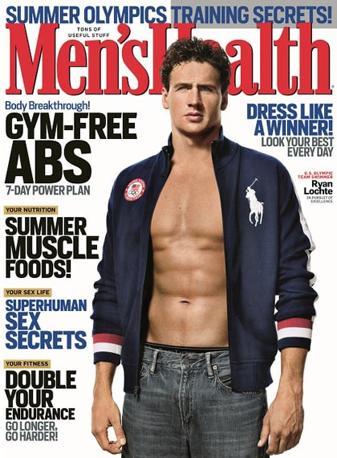 La copertina di Man's Health dedicata a Ryan Lochte