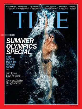 Lochte � arrivato anche sulla copertina del Time