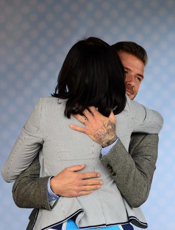 L'abbraccio con David Beckham (Usa Today/Weber)