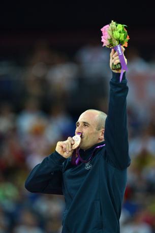 Matteo Morandi festeggia il bronzo (Afp/Stansall)