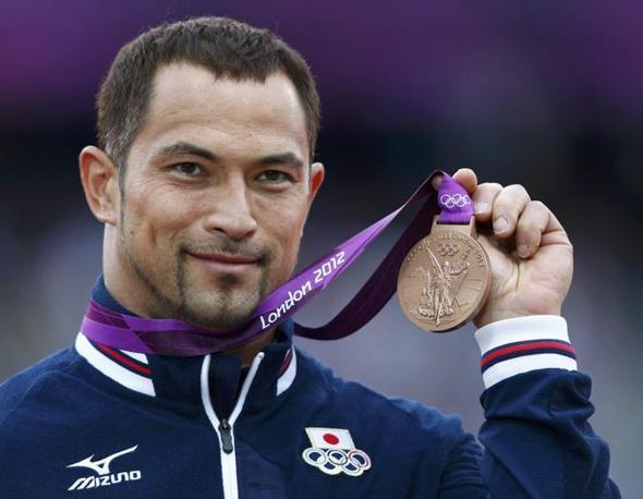 Il veterano delle Olimpiadi, il 37enne giapponese Koji Murofushi, ha vinto il bronzo nel lancio del martello a Londra 2012 (Reuters/ Keogh)