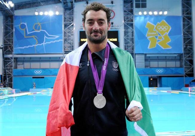 Maurizio felugo festeggia l'argento (Ansa)