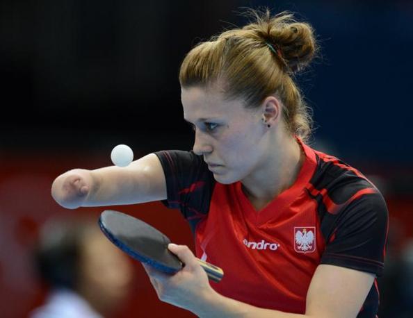 Tennistavolo: la polacca Natalia Partyka in azione (Afp)