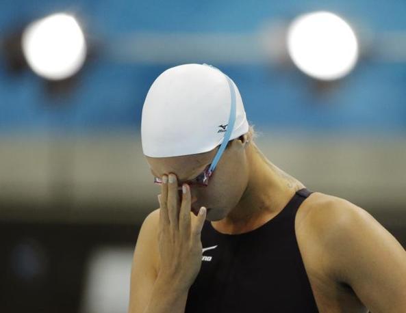 Federica Pellegrini fallisce anche sulla sua distanza preferita: solo quinta nei 200 stile libero. La campionessa veneta tornerà dunque a casa senza medaglie (Ap)