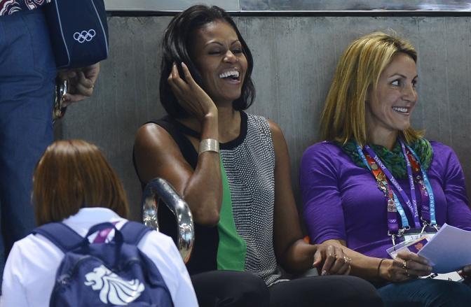Più tardi è arrivata Michelle Obama, first lady statunitense (Afp/Neal)