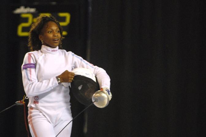 Laura Flessel-Colovic, spadista francese, in carriera vanta cinque medaglie olimpice: l'oro individuale e a squadre di Atlanta '96, il bronzo individuale di Sydney 2000 e l'argento individuale e il bronzo a squadre di Atene 2004 (Afp/Waem)